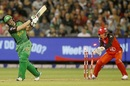 Luke Wright's stumps are rattled by Brad Hogg's spin, Melbourne Stars v Melbourne Renegades, Big Bash League 2016-17, Melbourne, January 1, 2017
