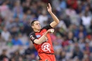 Chris Tremain delivers the ball, Melbourne Stars v Melbourne Renegades, Big Bash League 2016-17, Melbourne, January 1, 2017