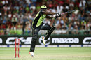 Andre Russell swats one through the off side, Sydney Thunder v Brisbane Heat, Big Bash League 2016-17, Sydney, December 28, 2016