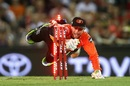 Sam Whiteman takes the bails off to run out Dwayne Bravo, Renegades v Scorchers, Big Bash League, Melbourne, December 29, 2016