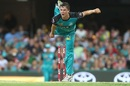 Mitchell Swepson delivers the ball, Brisbane Heat v Hobart Hurricanes, Big Bash League 2016-17, Brisbane, December 30, 2016
