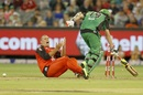 Trent Lawford reacts after missing a run out of Michael Beer, Melbourne Stars v Melbourne Renegades, Big Bash League 2016-17, Melbourne, January 1, 2017