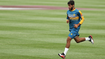 Mohammad Asghar goes through the paces at a training session