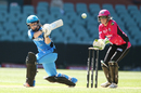 Tammy Beaumont swipes the ball during her fifty, Adelaide Strikers v Sydney Sixers, WBBL 2016-17, Adelaide, January 2, 2017