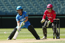 Bridget Patterson goes for an unorthodox shot, Adelaide Strikers v Sydney Sixers, WBBL 2016-17, Adelaide, January 2, 2017
