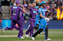 Daniel Christian finished the match with 5 for 14, the second-best figures in the history of the BBL, Hobart Hurricanes v Adelaide Strikers, BBL 2016-17, Hobart, January 2, 2017