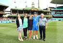 Hilton Cartwright poses with his family after receiving his baggy green, Australia v Pakistan, 3rd Test, Sydney, 1st day, January 3, 2017