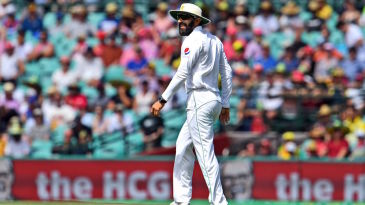 Misbah-ul-Haq did not have an encouraging first session on the field