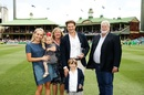 Say cheese: Shane Watson with his family at the SCG, Australia v Pakistan, 3rd Test, Sydney, 1st day, January 3, 2017