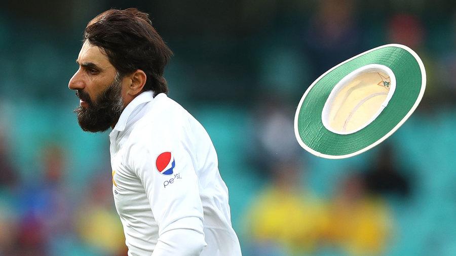 Misbah-ul-Haq loses his hat