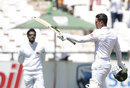 Quinton de Kock raises is bat for three figures, South Africa v Sri Lanka, 2nd Test, Cape Town, 2nd day, January 3, 2017