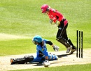 Despite some impressive acrobatics, Tammy Beaumont was stumped by Alyssa Healy, Adelaide Strikers v Sydney Sixers, Women's Big Bash League 2016-17, Adelaide, January 3, 2017