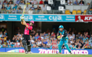 Daniel Hughes hits over the top during his 85, Heat v Sixers, Big Bash League 2016-17, Brisbane, January 3, 2017