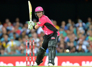 Brad Haddin sets up to slog one over midwicket, Heat v Sixers, Big Bash League 2016-17, Brisbane, January 3, 2017