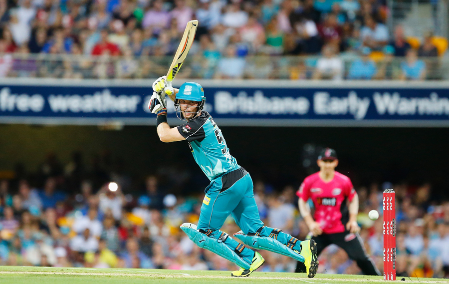 Jimmy Peirson hits it behind square on the off side | Photo | Big Bash League | ESPNcricinfo