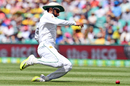 Misbah-ul-Haq puts in a slide in the outfield, Australia v Pakistan, 3rd Test, Sydney, 2nd day, January 4, 2017