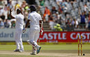 Vernon Philander removed Dimuth Karunaratne's leg stump, South Africa v Sri Lanka, 2nd Test, Cape Town, 3rd day, January, 4, 2017