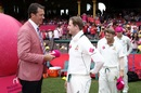 Glenn McGrath chats with Steven Smith on Jane McGrath day, Australia v Pakistan, 3rd Test, Sydney, 3rd day, January 5, 2017