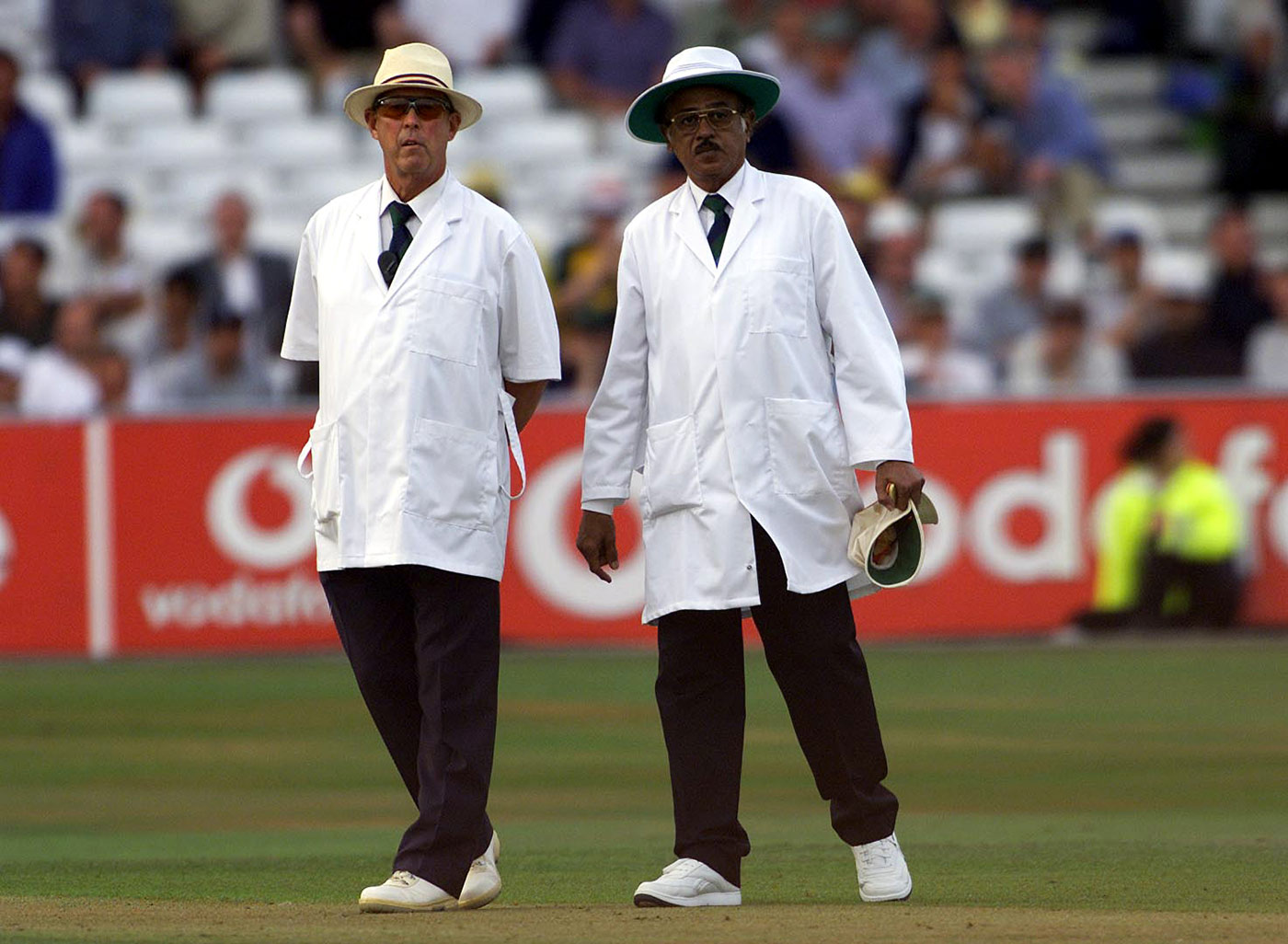 Standing in the 2001 Trent Bridge Ashes Test, with S Venkataraghavan
