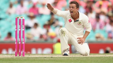 Steve O'Keefe appeals for the wicket of Asad Shafiq