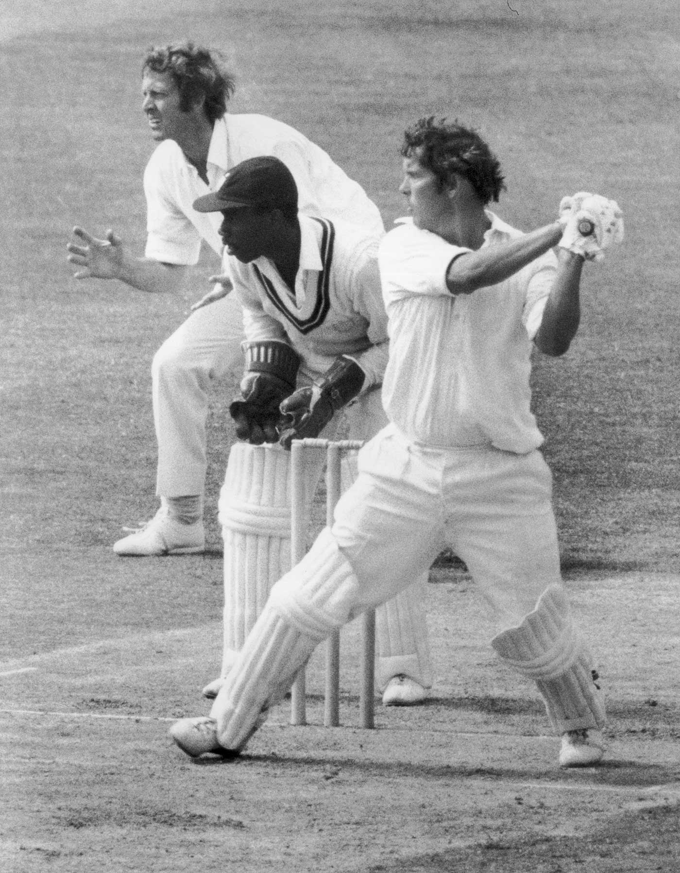 Hampshire bats during his 127 in a 1975 County Championship match against Surrey at The Oval