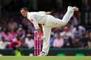 Steve O'Keefe twists his body into an awkward angle, Australia v Pakistan, 3rd Test, Sydney, 3rd day, January 5, 2017