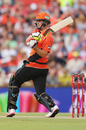 Mitchell Marsh hits a pull shot, Scorchers v Heat, Big Bash League 2016-17, Perth, January 5, 2017