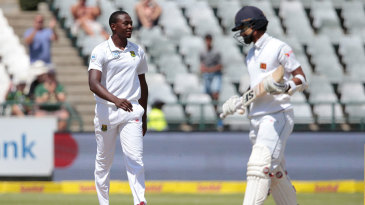 Kagiso Rabada was a little sheepish when Dinesh Chandimal clipped to square leg