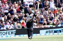 Colin Munro exults after raising his century, New Zealand v Bangladesh, 2nd T20I, Mount Maunganui, January 6, 2017
