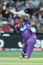 Jonathan Wells drives through the offside, Strikers v Hurricanes, Big Bash League 2016-17, Adelaide, January 6, 2017