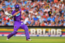 Beau Webster shapes to clobber the ball, Strikers v Hurricanes, Big Bash League 2016-17, Adelaide, January 6, 2017