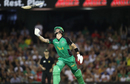 Kevin Pietersen throws his bat in the air after being dismissed, Renegades v Stars, Big Bash League 2016-17, Melbourne, January 7, 2017