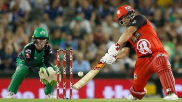 Aaron Finch goes inside out