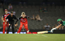 Danielle Wyatt runs out Natalie Sciver, Renegades v Stars, Big Bash League 2016-17, Melbourne, January 7, 2017