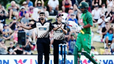 Ish Sodhi was particularly delighted with Soumya Sarkar's wicket