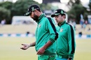 Mashrafe Mortaza inspects his injured right hand, New Zealand v Bangladesh, 3rd T20I, Mount Maunganui, January 8, 2017