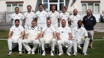 Tatenda Taibu (sitting, first from right) with his Hightown St Mary's squad
