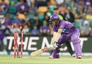 Cameron Boyce was knocked over by Pat Cummins, Hobart Hurricanes v Sydney Thunder, BBL 2016-17, Hobart, January 8, 2017