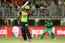 Aiden Blizzard is bowled by Ben Hilfenhaus, Sydney Thunder v Melbourne Stars, BBL, Sydney Showground Stadium, January 4, 2016