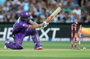 Cameron Boyce is bowled by Chris Jordan, Strikers v Hurricanes, Big Bash League 2016-17, Adelaide, January 6, 2017