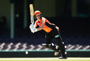 Elyse Villani drives through the leg side, Sydney Sixers v Perth Scorchers, Women's Big Bash League 2016-17, Sydney, January 9, 2017