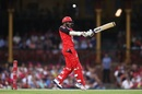 Sunil Narine opened the batting but a top-edged shot saw his dismissal, Sydney Sixers v Melbourne Renegades, Big Bash 2016-17, Sydney, January 9, 2017