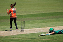 Suzie Bates celebrates a run-out, Scorchers v Stars, January 5, 2017