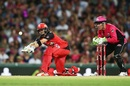 Brad Haddin looks on as Callum Ferguson attempts a sweep, Sydney Sixers v Melbourne Renegades, Big Bash 2016-17, Sydney, January 9, 2017