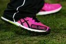 Nathan Lyon shows off his footwear, Sydney Sixers v Melbourne Renegades, Big Bash 2016-17, Sydney, January 9, 2017
