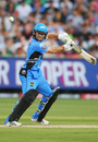 Tim Ludeman plays down to third man, Stars v Strikers, Big Bash League 2016-17, Melbourne, January 10, 2017