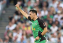 Scott Boland celebrates a wicket, Stars v Strikers, Big Bash League 2016-17, Melbourne, January 10, 2017