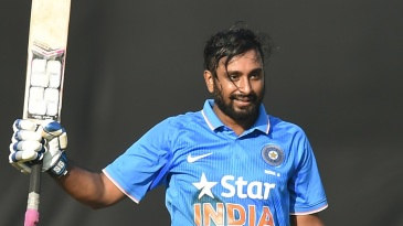 Ambati Rayudu raises his bat
