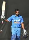 Ambati Rayudu retired himself out soon after reaching his fourth List-A ton, India A v England XI, Mumbai, January 10, 2017