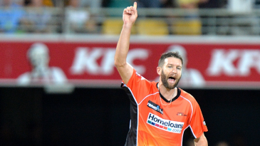 Andrew Tye took a hat-trick and returned figures of 4 for 22